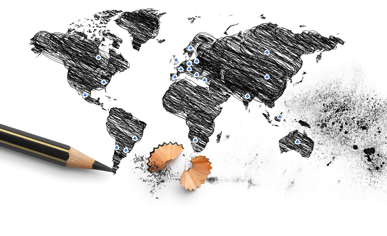 F i l a nel mondo f i l a group f i l a group - Mappa del mondo contorno ks2 ...